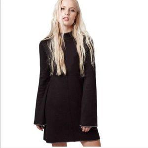 Topshop Sweater Dress Black Gray Trim Size 4